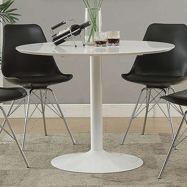 Shop Lowry Mid Century Modern White Round Dining Table Free