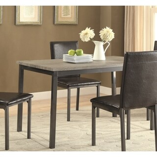 Garza Black Dining Table - Grey