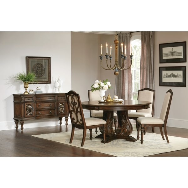Round Formal Dining Room Tables: Shop Ilana Traditional Antique Java Round Formal Dining