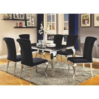 "Barzini Dining Contemporary Black Dining Table - 35.50"" x 29.50"" x 59"""