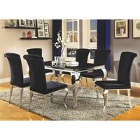 Barzini Dining Contemporary Black Dining Table - Silver
