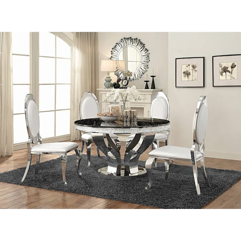 """Anchorage Hollywood Glam Silver Dining Table - 30"""" x 51.25"""""""