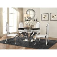 Anchorage Hollywood Glam Silver Dining Table - Black