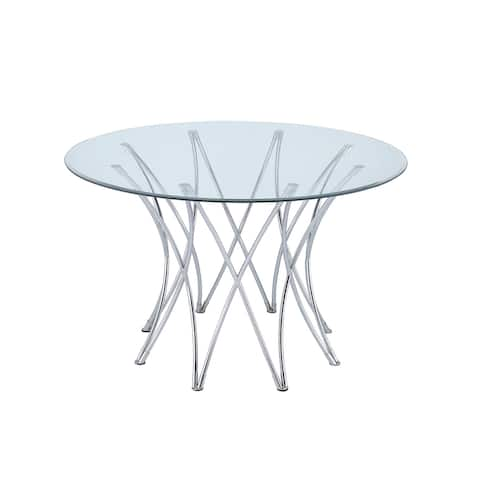 "Cabianca Contemporary Chrome Table Base ( Base Only) - 29"" x 40.50"""