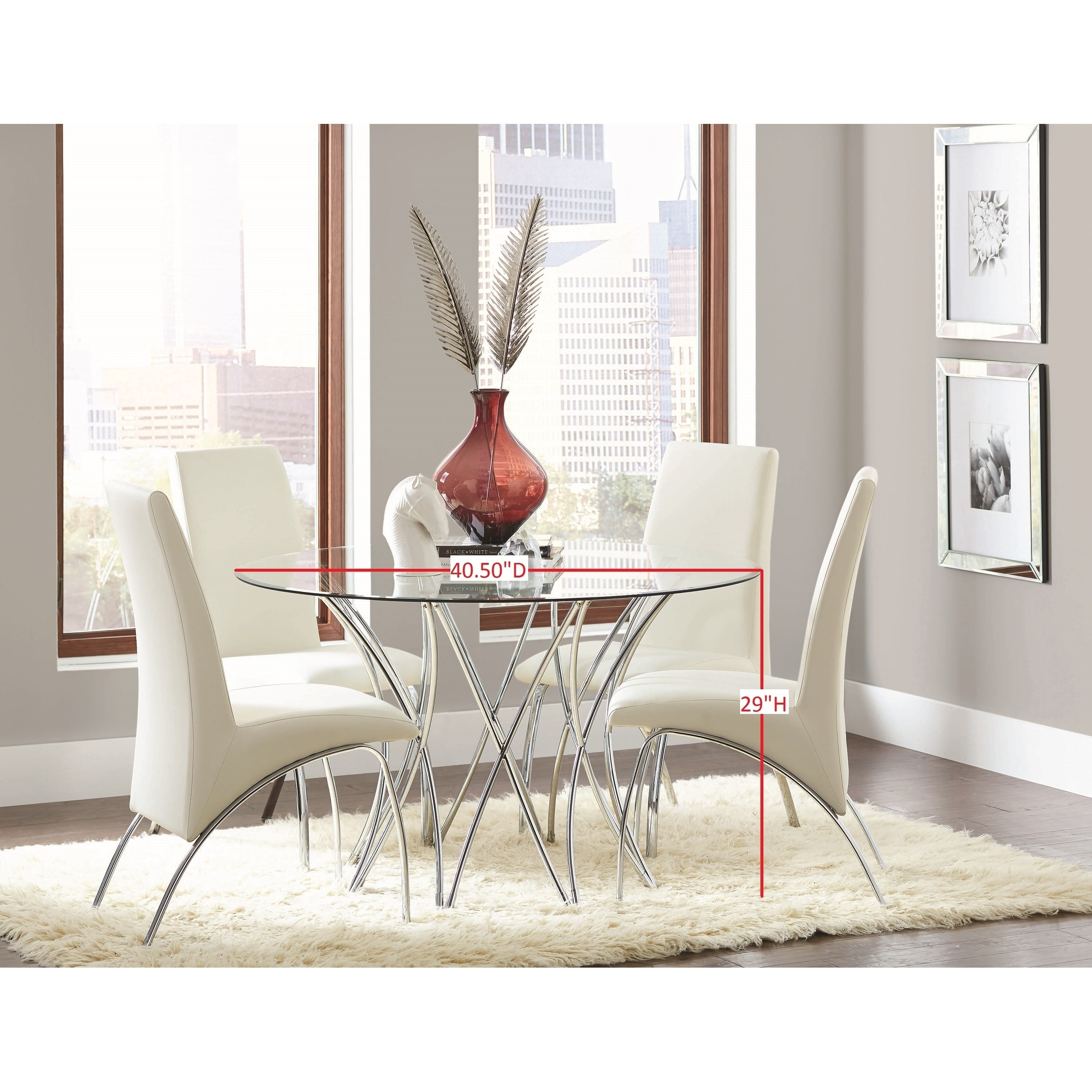 Cabianca Contemporary Chrome Table Base Base Only 29 X 40 50 Overstock 22579199