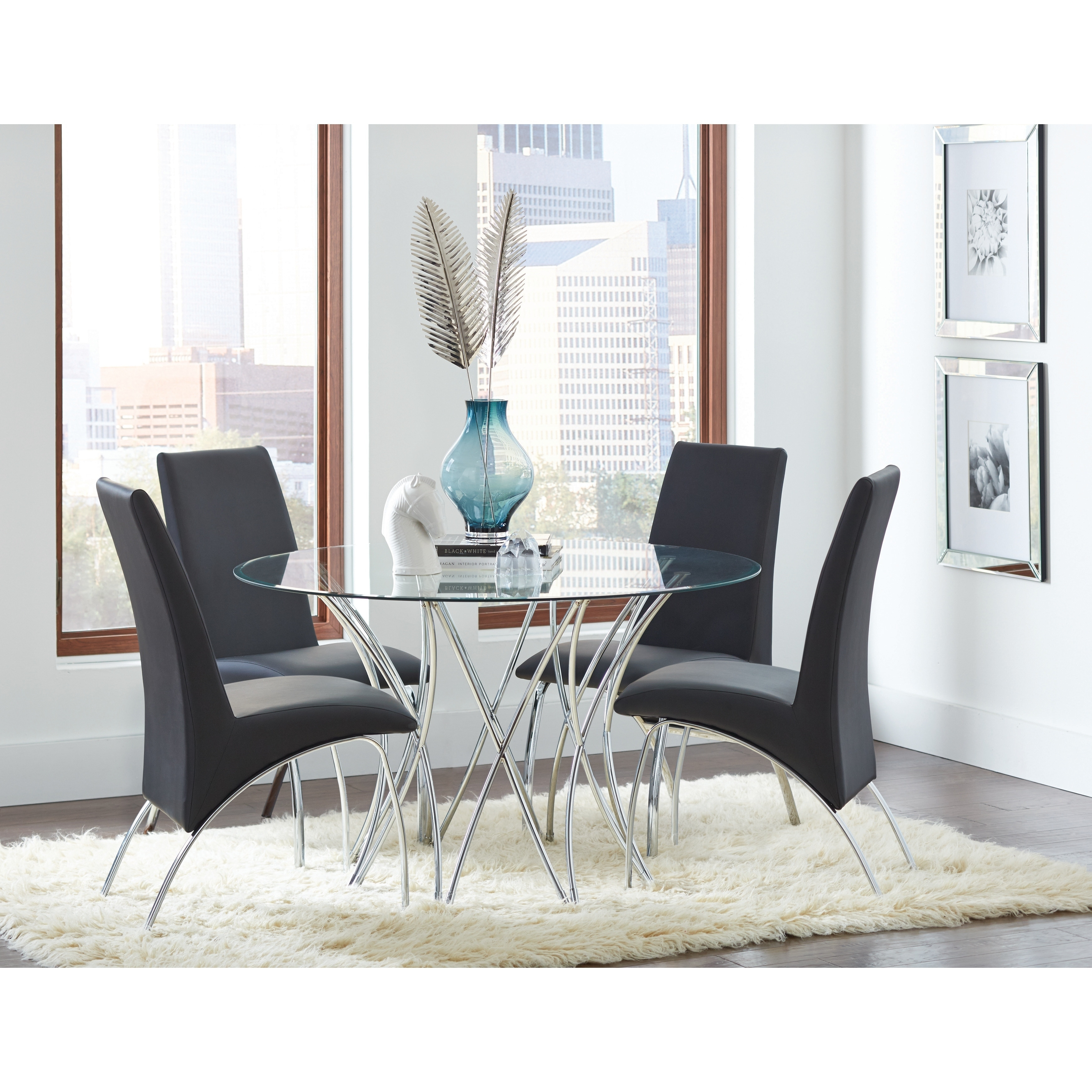 Picture of: Cabianca Contemporary Chrome Table Base Base Only 29 X 40 50 Overstock 22579199