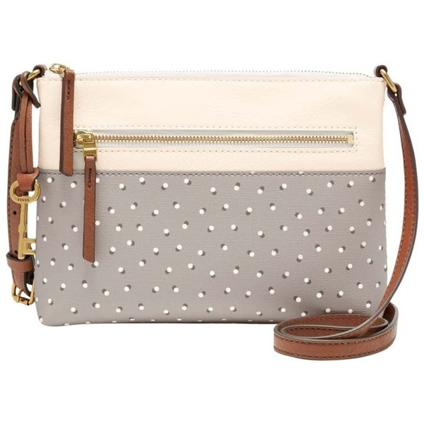 a80e7c3009d Shop Fossil Fiona Printed Small Cross-Body Bag Grey White - Free Shipping  Today - Overstock.com - 22579334