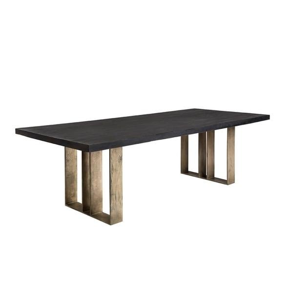 Shop Carbon Loft Berendt Black And Gold Dining Table On