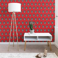 Andi Bird Sugar Skull Fun Red Wallpaper
