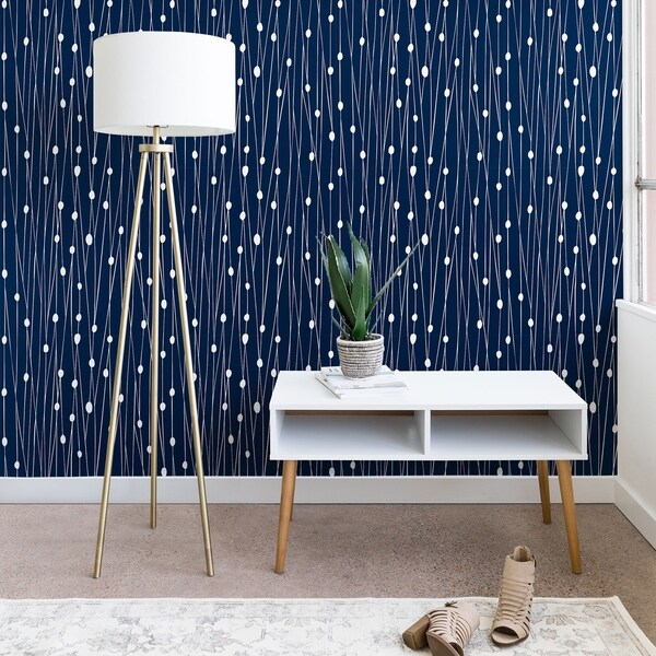 Heather Dutton Navy Entangled Wallpaper. Opens flyout.