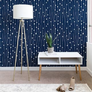 Heather Dutton Navy Entangled Wallpaper