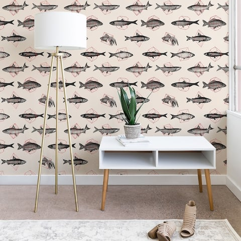 Florent Bodart Fishes In Geometrics Wallpaper