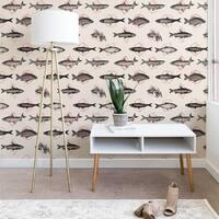 Florent Bodart Fishes In Geometrics Wallpaper