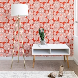 Heather Dutton Delightful Doilies Saffron Wallpaper