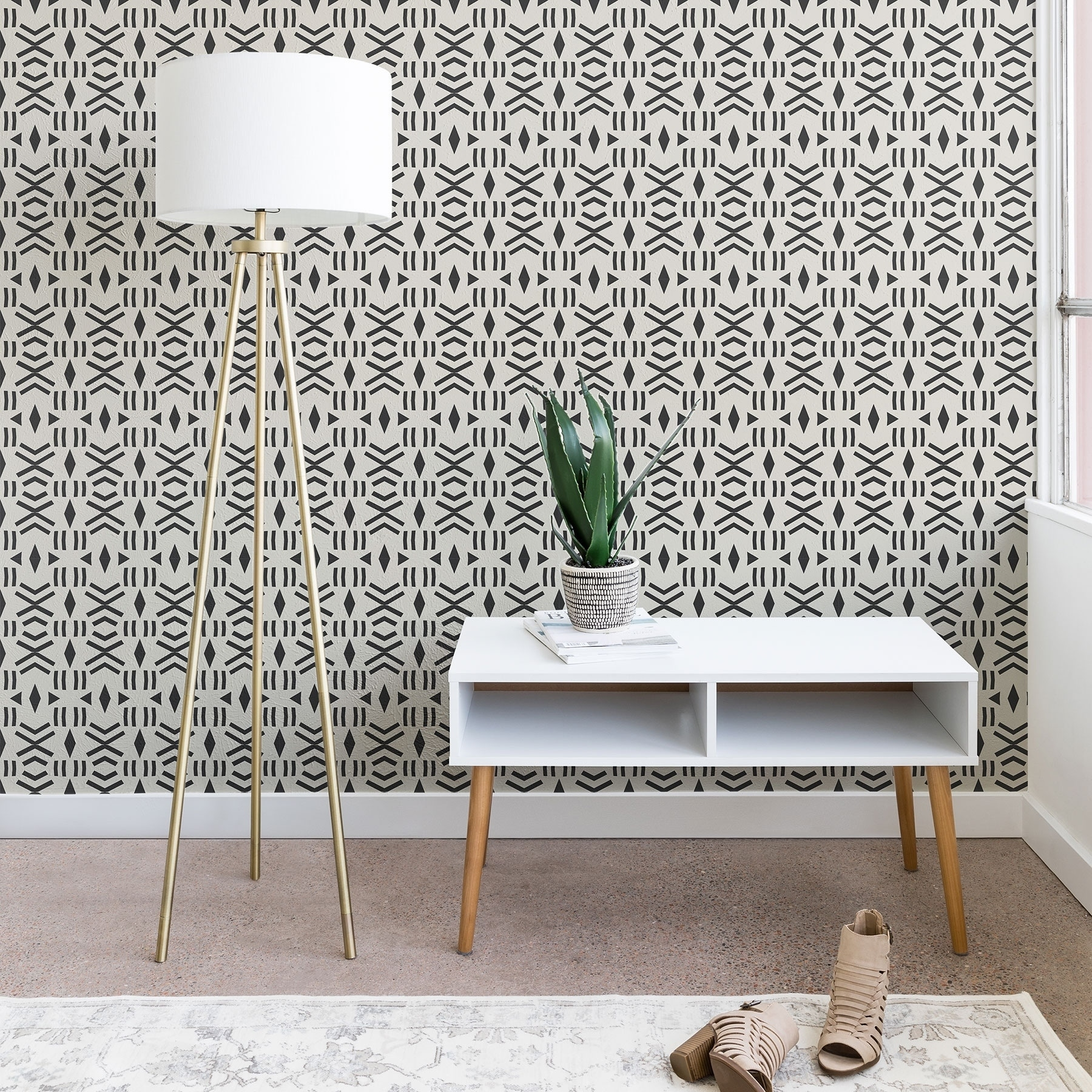 Holli Zollinger Geo Mudcloth Wallpaper