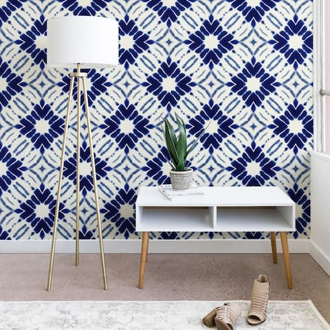 Jacqueline Maldonado Watercolor Shibori Blue Wallpaper