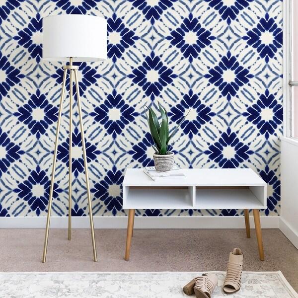 Jacqueline Maldonado Watercolor Shibori Blue Wallpaper. Opens flyout.