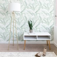 Deny Designs Banana Leaf Peel and Stick Wallpaper- 3 Sizes