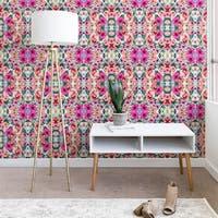 Marta Barragan Camarasa Abstract Geometrical Flowers Wallpaper