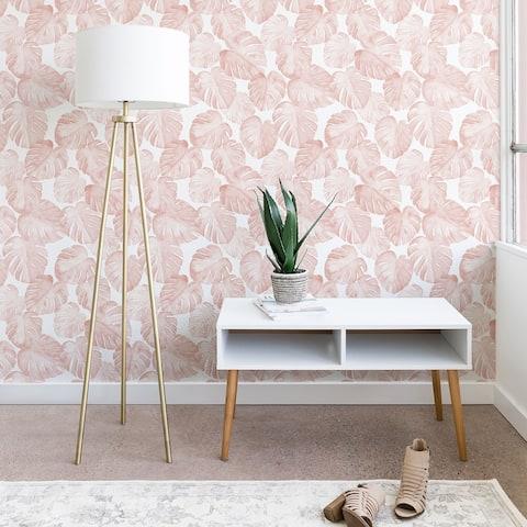 Little Arrow Design Co Watercolor Monstera in Dusty Pink Wallpaper