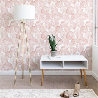 Little Arrow Design Co Watercolor Monstera in Dusty Pink Wallpaper