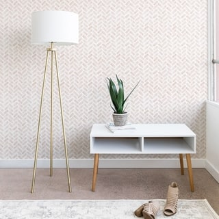 Little Arrow Design Co Arcadia Herringbone in Blush Wallpaper