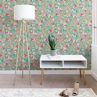 Ninola Design Green Peonies Festival Floral Wallpaper