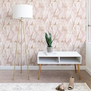 Schatzi Brown Island Goddess Leaf Creme Wallpaper