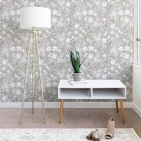 Schatzi Brown Eden Floral Sand Wallpaper