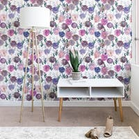 Schatzi Brown Gillian Floral White Wallpaper
