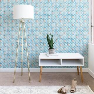 Schatzi Brown Hara Tiles Light Blue Wallpaper