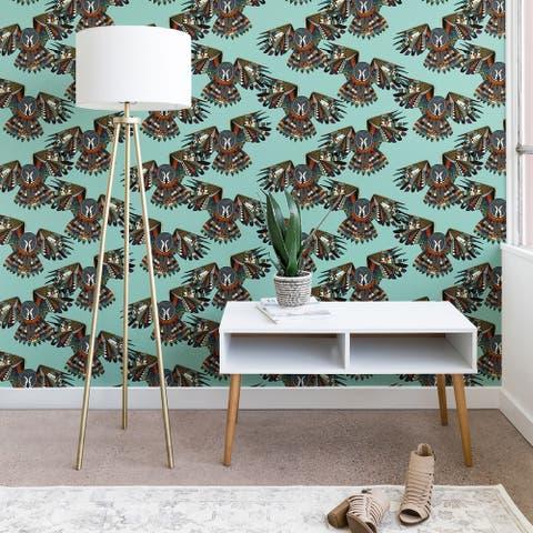 Sharon Turner Night Owl Mint Wallpaper