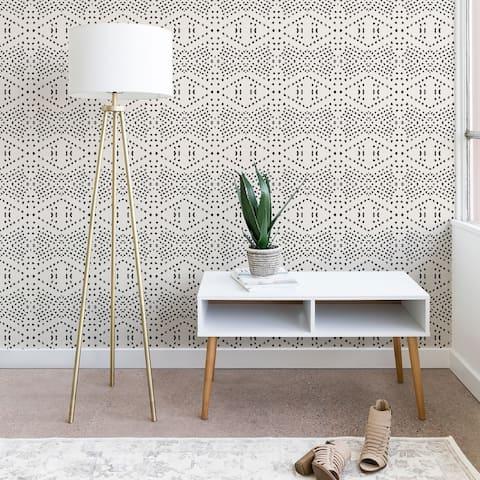 Deny Designs Black Dot Peel and Stick Wallpaper- 3 Sizes