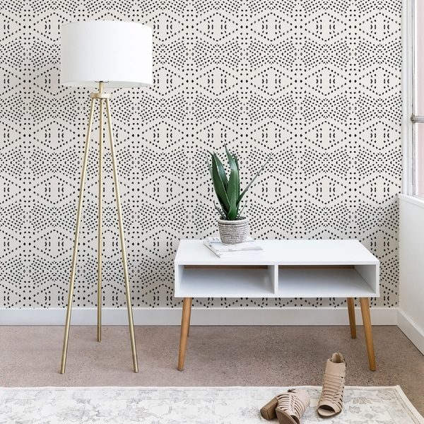 Deny Designs Black Dot Peel and Stick Wallpaper- 3 Sizes. Opens flyout.