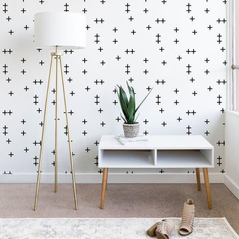 Little Arrow Design Co Cross on White Wallpaper