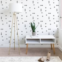 Little Arrow Design Co Cross on White Wallpaper