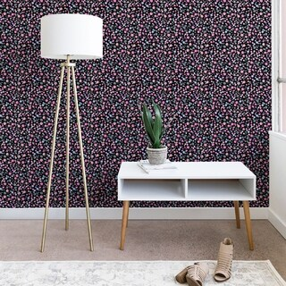 Ninola Design Galaxy Constellation Dots Planets Dark Wallpaper