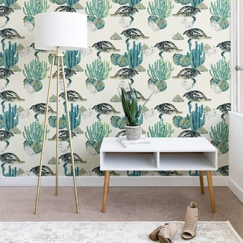 Marta Barragan Camarasa Crocodiles and Cactus Bloom Wallpaper