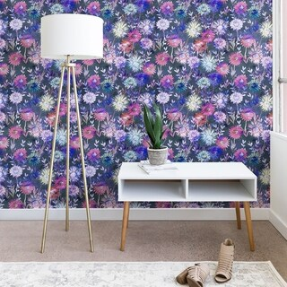Schatzi Brown Gillian Floral Grey Wallpaper