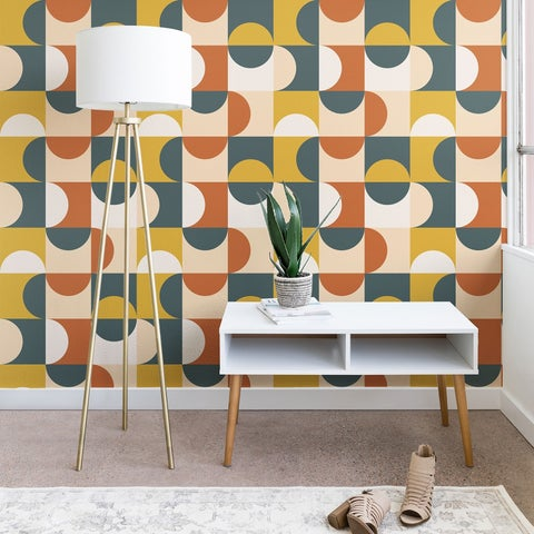 The Old Art Studio Mid Century Modern Geometric 23 Wallpaper