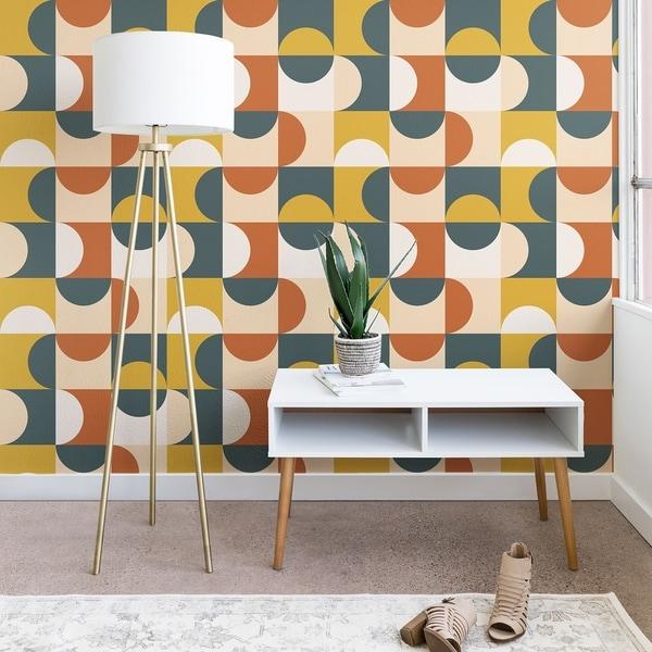 The Old Art Studio Mid Century Modern Geometric 23 Wallpaper. Opens flyout.