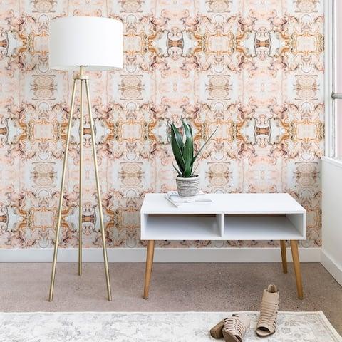Marta Barragan Camarasa Abstract Pink Marble Mosaic Wallpaper