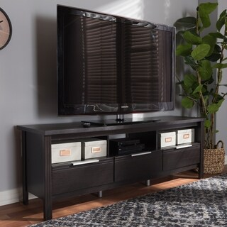 Contemporary Dark Brown TV Stand by Baxton Studio