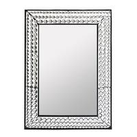 Essential Decor & Beyond Black Glass/Stone Wall-mounted Accent Mirror