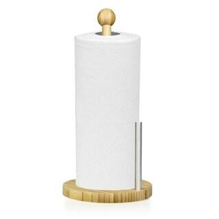Home Basics Natural Bamboo Paper Towel Holder