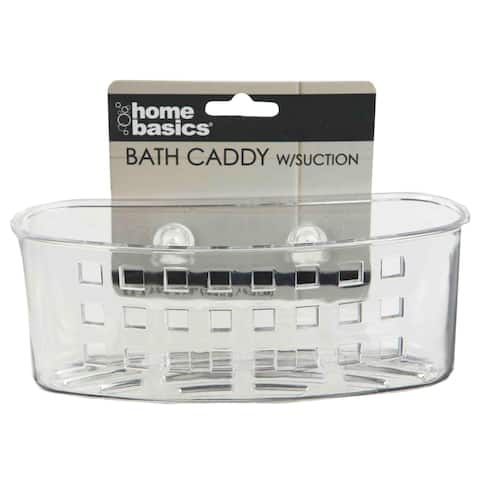 Home Basics Clear Caddy and Suction Cups