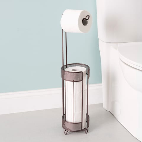 Home Basics Metropolitan Collection Bronze Steel Toilet Paper Holder