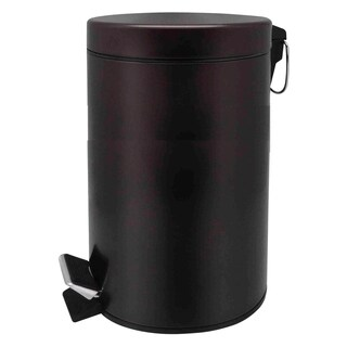 Home Basics Bronze 20 Liter Round Waste Bin