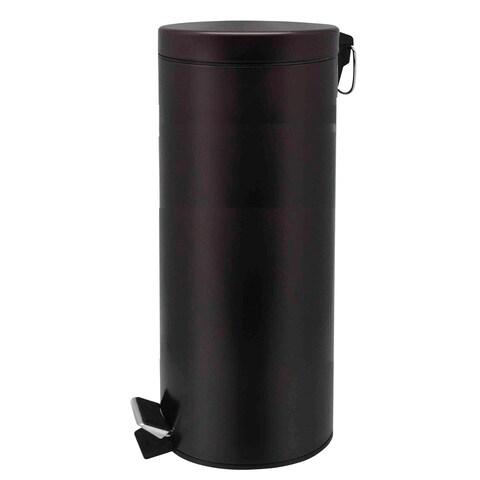 Home Basics Bronze 30 Liter Round Waste Bin