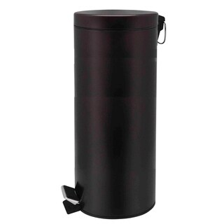 Home Basics Bronze 30 Liter Round Waste Bin